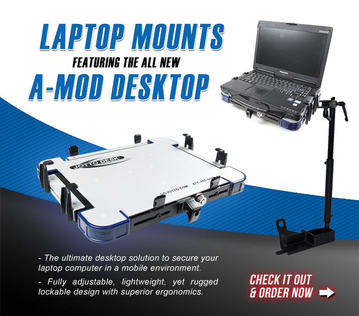 Check out the NEW A-MOD Desktop from Jotto Desk - Adjustable, Lockable Laptop Desktop Perfect For Mobile Professionals