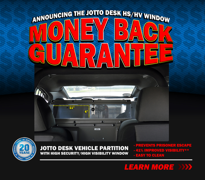 Announcing the High Security/High Visibility Window Partition Money Back Guarantee Offer