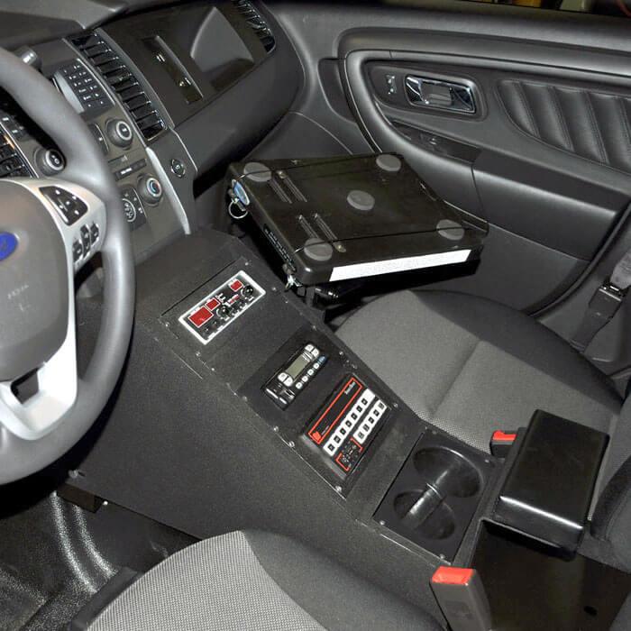 ford police interceptor sedan pi sedan police equipment console contour 2013 425 6174. Black Bedroom Furniture Sets. Home Design Ideas