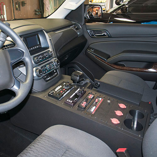 Chevy Tahoe Police Equipment Console With Locking Lid