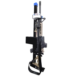 AR Secure Gun Rack - Single Weapon, Partition Mounted, Vertical (GR9-ZRT-AR Secure-BLM) AR Secure Gun Rack -  Single Weapon, Partition Mounted, Vertical (GR9-ZRT-AR-BLM-V) 475-2053