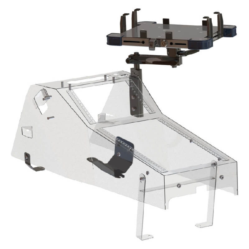 Console Side Mount w/A-MOD (Tall Clamps) Laptop Mount Ford PI Utility (2020+) Ford Police Interceptor Utility (2020+) Console Side Mount A-MOD Laptop Mount (Tall Clamps) - 425-5699/4143 - GoJotto