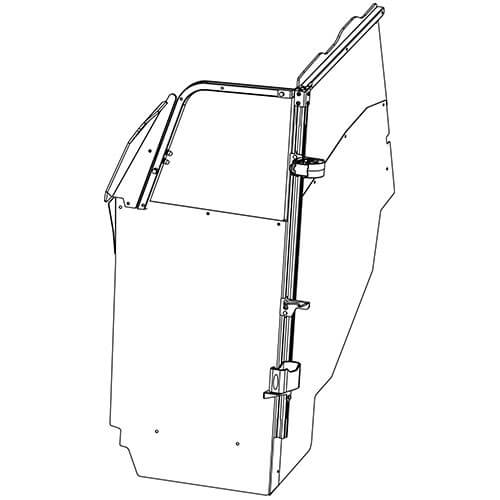 Gun Rack - Single Weapon, Single Cell Mounted, Vertical (GR7-ZRT-DCR-AR BLM)   ZRT Gun Rack - Single Weapon, Single Cell Mounted, Vertical (GR7-ZRT-DCR-AR BLM) 475-2048