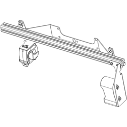 Gun Rack - Single Weapon, Rear Hatch Mounted (GR4-ZRT-870-PI-UTILITY 2020+) Gun Rack - Single Weapon, Rear Hatch Mounted (GR4-ZRT-870-PI-Utility-2020+) 475-1529