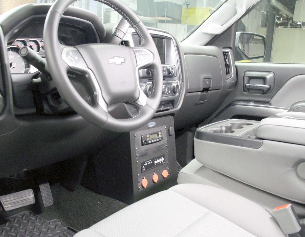 Chevy Silverado (2015-2018) Police Equipment Vertical Dash Mount Contour  Console