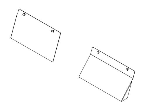High Security Extension Panel for Dodge Charger (2011+) VP9 Space Creator Vehicle Partition - Two Piece Steel HSEP